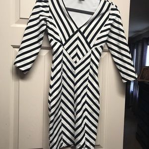Sexy black and white Bebe dress
